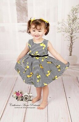 Girls Beau Kid Spanish Romany Dress  Navy/Lemon
