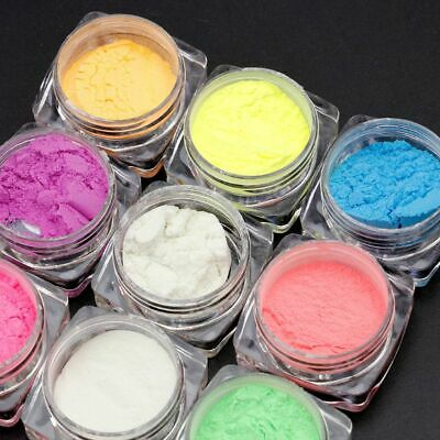 10 Colors Luminous Powder Resin Pigment Dye UV Resin Epoxy DIY Jewelry Making