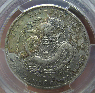 Y-253 L&M-419 1908 China Yunnan Silver 50 Cents PCGS Genuine AU Detail Cleaned