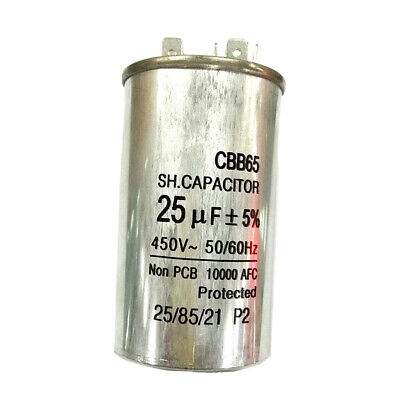 10000 AFC Protected 450V25UF Air Conditioner Compressor Start Run Capacitor