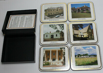 Vintage Commonwealth Bank Coasters (Heritage '88 Project) Set of 6 in Box