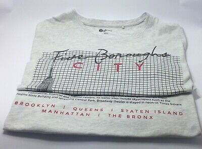 (B) Collection Men XXL FIVE BOROUGHS CITY VINSTAG  T SHIRT IN VERY CONDITION""