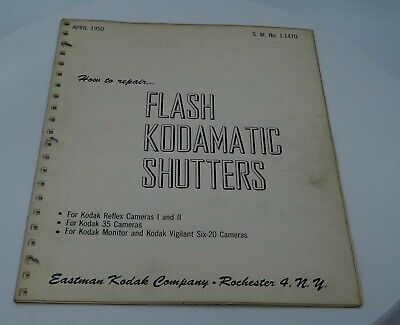 How to Reapir Flash Kodakmatic Shutters for Reflex 1/2, Monitor, Vigilant - 1950