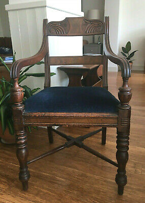 Antique Regency George III Mahogany Elbow Chair, Thomas Hope, Armchair, Desk