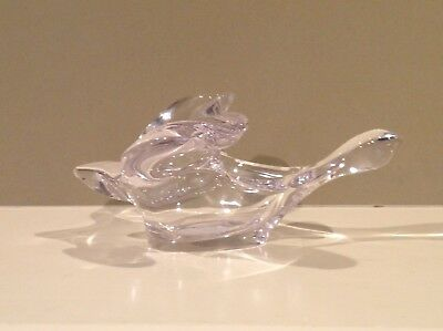 Princess House Crystal Flying Turtle Dove Candy Dish Glass Bowl