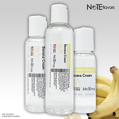 Liquid Banana Cream DX 1-4oz Food Grade Concentrated Flavoring Drops DIY Juice