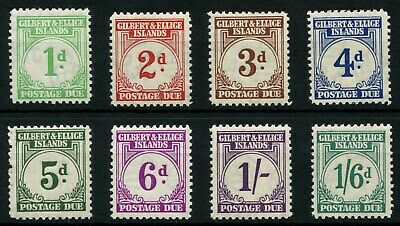 Gilbert And Ellice SG D1 - SG D8 1940 Postage Due Set Of Eight Mounted Mint