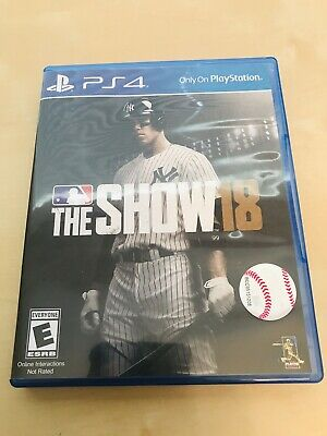 MLB The Show 18 PS4 (PlayStation 4, 2018)