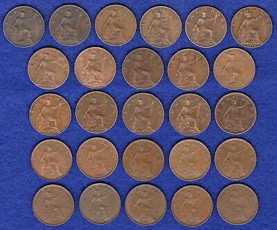 GB, Farthings, George V, 1911 to 1936, Complete Date Run, 26 Coins (Ref. t2385)