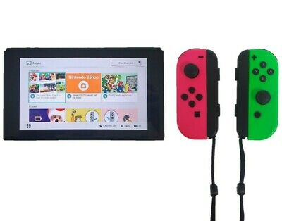 Nintendo Switch 32GB Gray Console with Neon Pink Green Joy-Cons HACSKAAAA ENW22