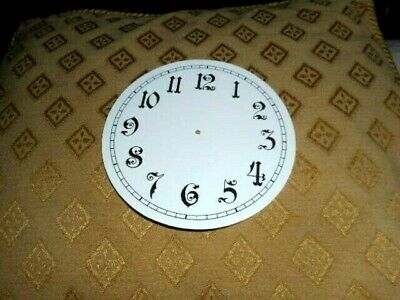 "Round Paper Clock Dial - 5"" M/T- Ornate Arabic - GLOSS WHITE -Face/Parts/Spares"