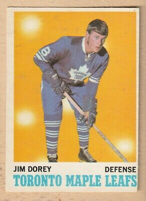 Hockey Card Nhl 1970-71 Jim Dorey Toronto Maple Leafs  Opc #106