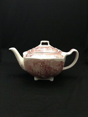 johnson brothers old britain castles pink Teapot