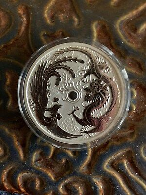 2017 Australia Perth mint Dragon and Phoenix silver one oz. coin
