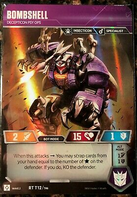 Transformers TCG Wave 2 T12//T46 NEW BOMBSHELL Decepticon Psy Ops Insecticon
