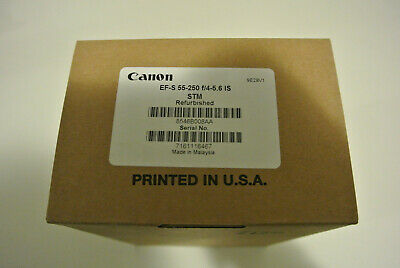 Refurbished Canon EF-S 55-250mm f/4-5.6 IS STM Lens Canon USA 1 Yr Warranty