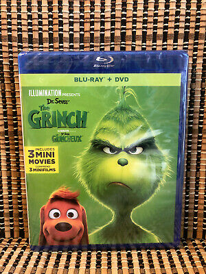 The Grinch (2-Disc Blu-ray/DVD, 2019)Dr. Seuss/How Stole Christmas/Cumberbatch