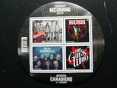 Canada #2655 S/S Mnh Canadian Recording Artists: The Bands