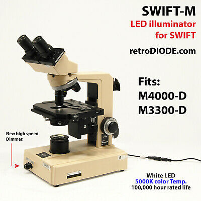 LED illuminator retrofit Kit with dimmer control for older SWIFT Microscopes