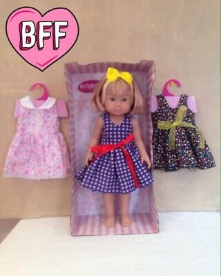 "Molly Dolly 18"" Emma Doll - Poseable Dressed Vinyl Girl Dress Up Doll"