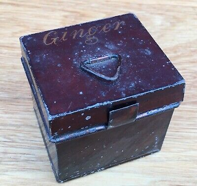 Antique Early 19th Century Toleware Spice Box- Ginger