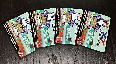 X4 Pokemon TCG Furious Fists Online Booster Pack UN-USED Codes *Ebay Message*