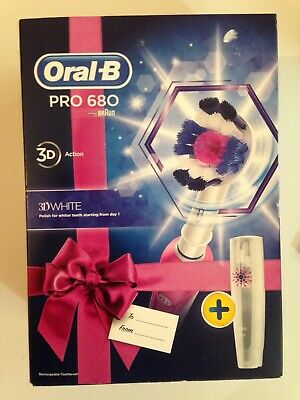 **NEW** Oral-B Pro 680 3D Action Pink Electric Rechargeable Toothbrush