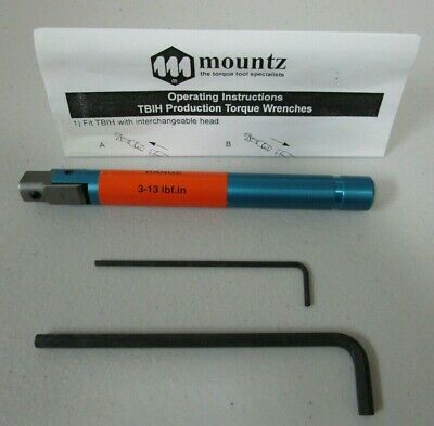 Mountz Torque Wrench 068001-B Range 3-13 lbf.in NEW