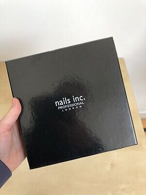 Nails Inc. Professional London Black Nail Polish Varnish Box Fits 10 20x20cm