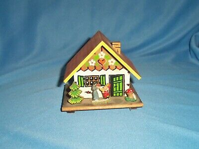 Vintage Toggili German Alpine Style House Wood Bank Promo Frankenmuth MI &Key