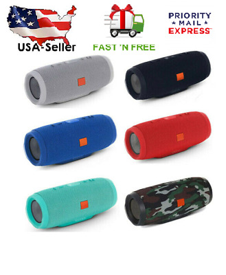New Charge 3+ Edition Portable Waterproof Black Bluetooth Speaker Wireless Bass