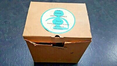The Cona Coffee Maker - Size D, 2 Pints, Colour Black - Vintage in box