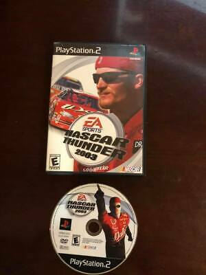 NASCAR Thunder 2003 (Sony PlayStation 2, 2002) - W/ Case