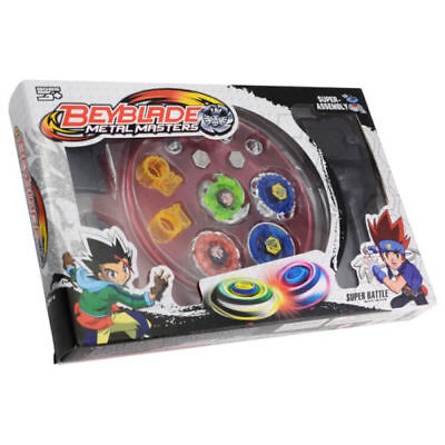 4D Fusion Top Metal Masters Rapidity Fight Rare Beyblade Launcher Set for Child