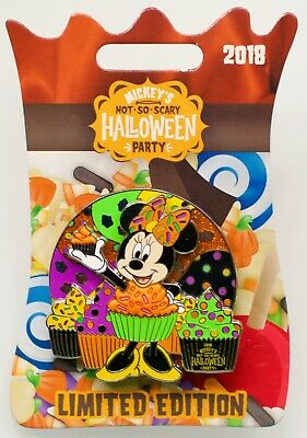 Disney 2018 Mickey's Not So Scary Le Cupcake Minnie Mouse Spinner Pin New/Card