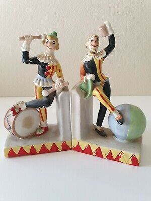 Vintage Mid Century Jester Bookends
