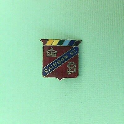 Old Rainbow St Randwick Public School Vintage Enamel Badge by Perfection Sydney