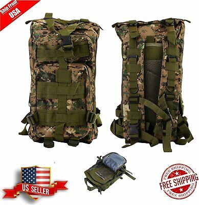 Outdoor Military Tactical Backpack Hiking Camping Trekking Rucksacks 30L Bag  MX
