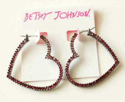 4b1bfd9ddac31 BETSEY JOHNSON HUGE Granny Chic Gold Pearl Multi-Color Crystal Hoop ...