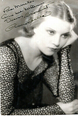 French Actress In Hollywood Annaballa ,Signed Vintage Studio Photo.
