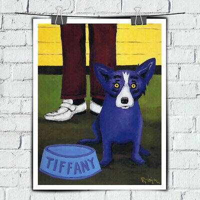 HD Print Canvas Blue Dog Cartoon Wall Art Decor Painting Home Decor Picture16x20