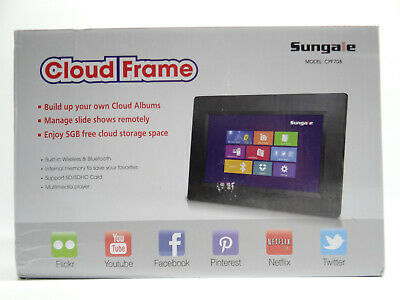 "Sungale Wifi Cloud Frame CPF708 7"" LED Flickr Youtube Facebook Twitter Netflix"