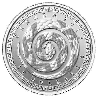 2013 Year of the Snake (Chinese Character) $10 1/2oz Silver Proof Coin - RCM