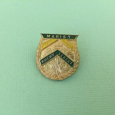 New Zealand Marist Rugby League Vintage Enamel Badge NZRL Auckland