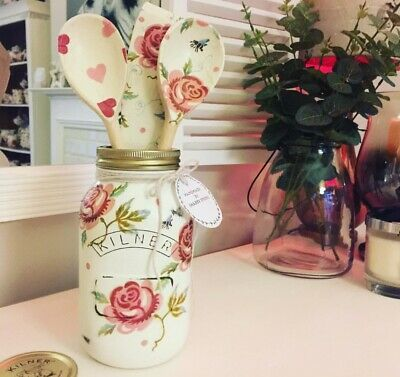 Emma Bridgewater Themed Kilner/Mason Jar & Utensils  - Rose & Bee