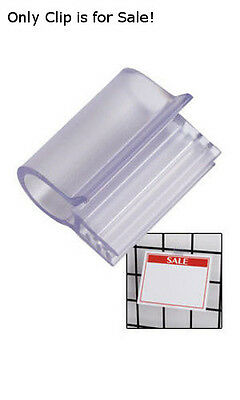 Plastic Sign Clip 1 Inch for Wire Grid - Pack of 20