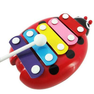 BEETLE XYLOPHONE 5-Note Red Musical Toy Baby Kids Child Development Wisdom Gifts