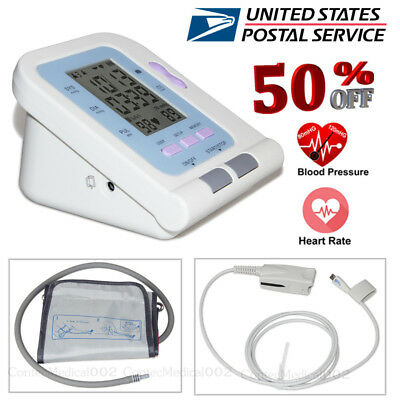 USA Digital Blood Pressure Monitor NIBP SPO2 Meter Pulse Oximeter USB Software