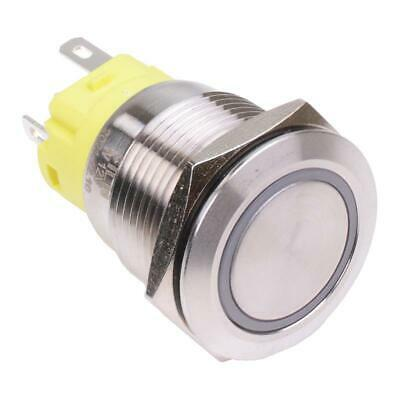 Blue LED On-(On) Momentary 19mm Vandal Resistant Push Switch SPST