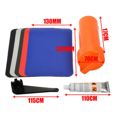 BOAT REPAIR GLUE Kit PVC Patches Set Accessory for